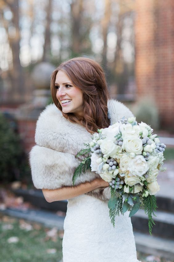 Winter Wedding Inspiration Photo 6 via Bridal Musings Wedding Blog on Pinterest