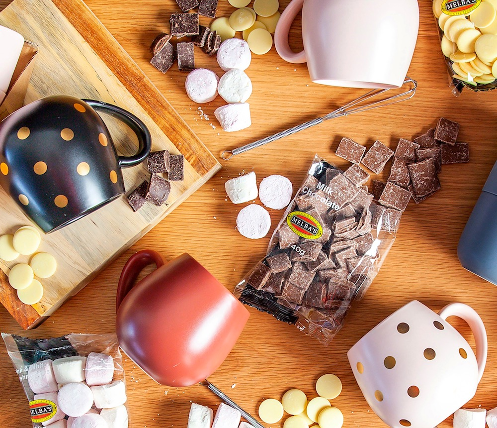 WIN 2 x hot chocolate packs AND a $100 voucher to share with a friend at Melba's Chocolates & Confectionary