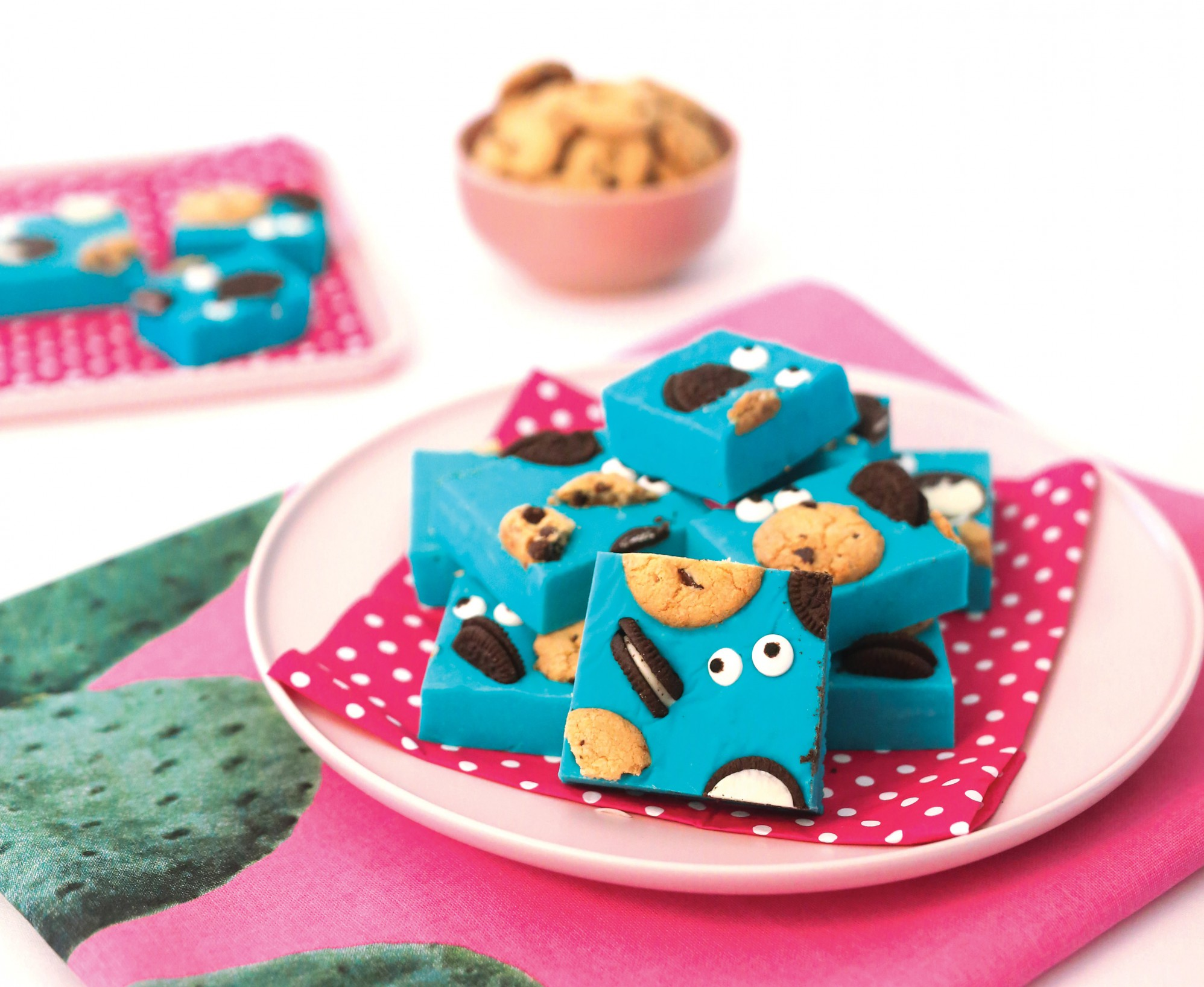 Recipe :: Cookie Monster fudge