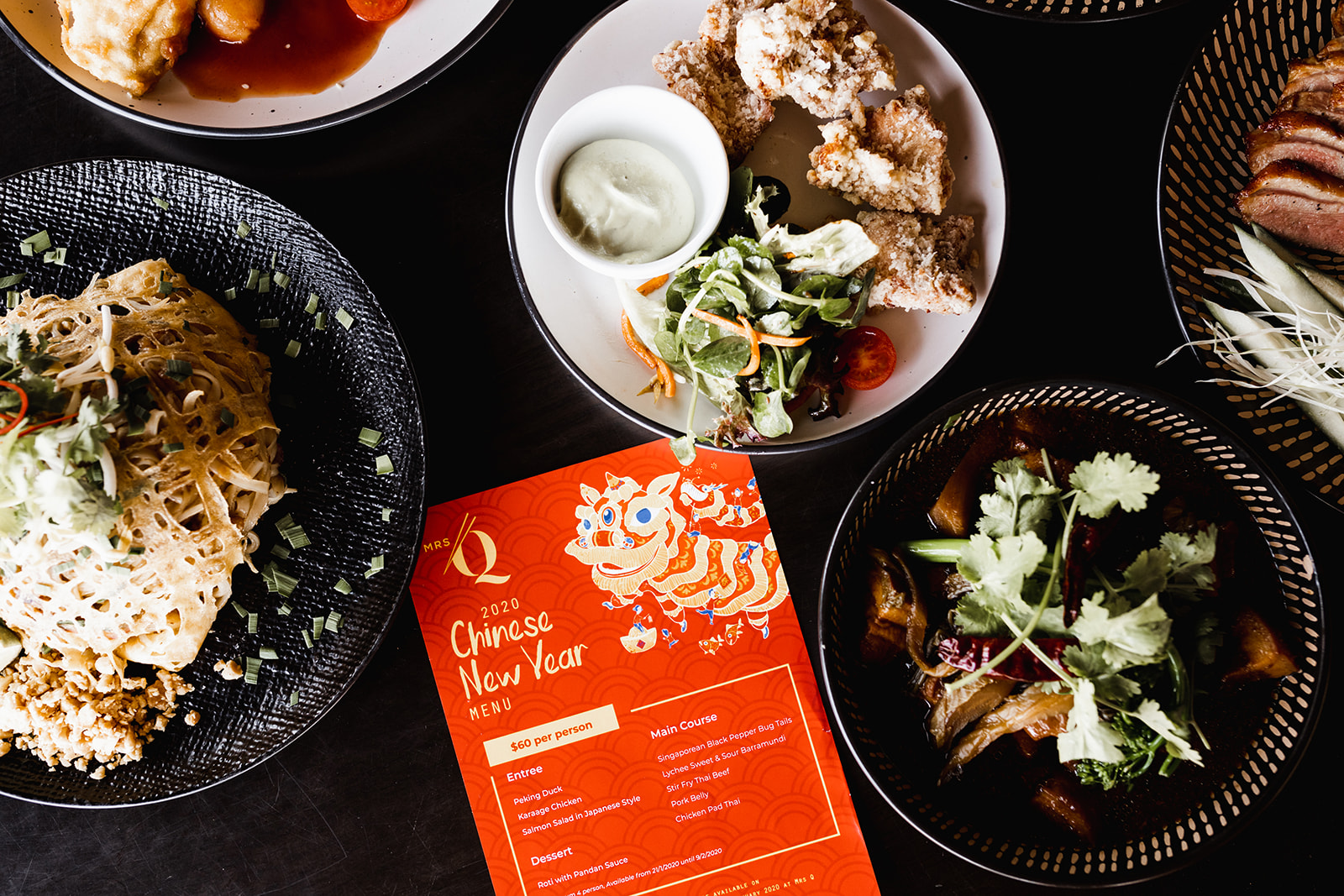 WIN a delicious dinner atMrs Q to celebrate their Chinese New Year menu for you and 3 friends