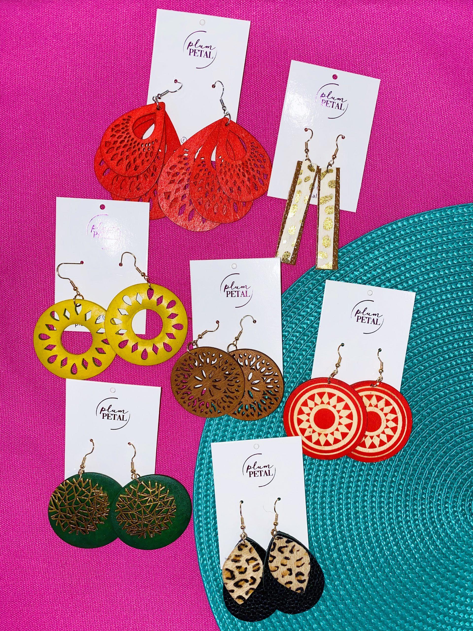WIN seven pairs of beautiful Plum Petal earrings!